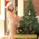 Sexgeile Blondine mit Weihnachts Fetisch